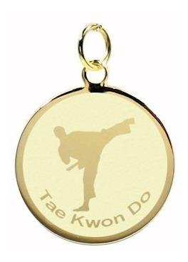 pingente banhado ouro jogos olímpicos tae kwon do
