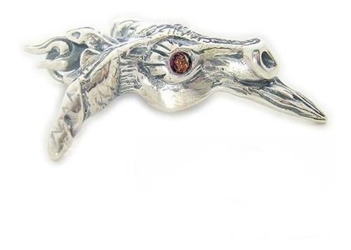 pingente baphomet, bode em prata com cravação