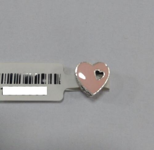 pingente berloque prata 925  p/ pulseira pandora coração