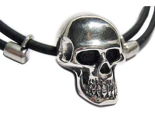 pingente caveira em prata c/ cordão - a mais detalhada
