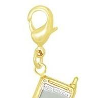 pingente celular folheado a ouro 18k frete grátis