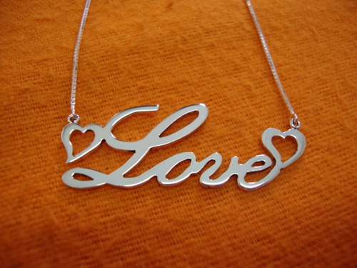 pingente colar cordão pingente nome prata corrente prata 925