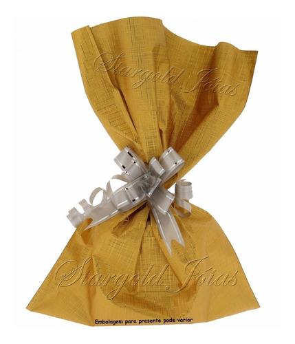 pingente coração 6mm ouro 18k jóias embalagem presente -