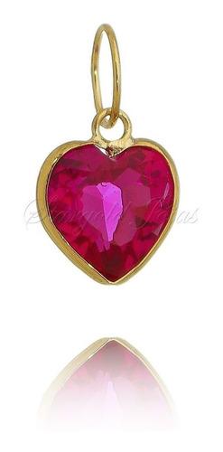 pingente coração 6mm ouro 18k stargold jóias