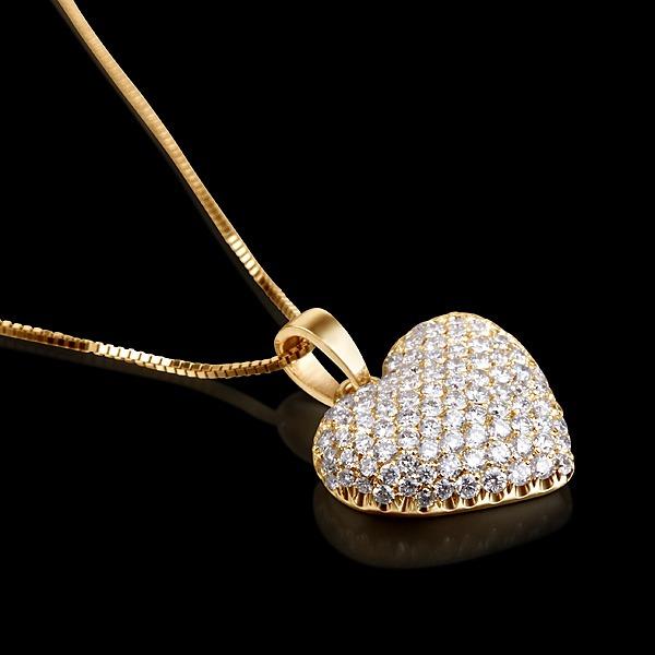 8c8234a6455ae Pingente Coração Com Diamantes Ouro 18k! - R  2.763,00 em Mercado Livre