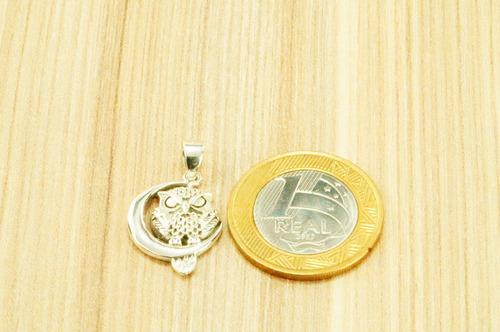 pingente coruja (l4) prata 925