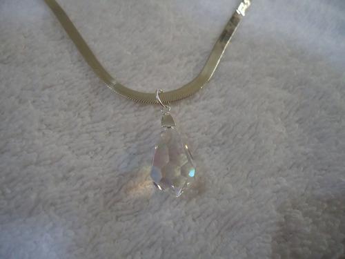 pingente cristal boreal - prata de lei