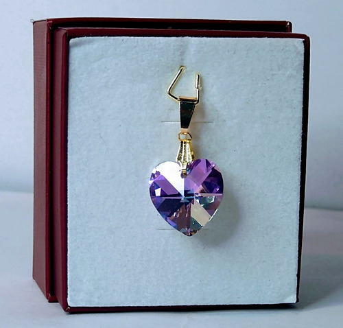 pingente cristal swarovski vitrail light 1,4cm folh. a ouro