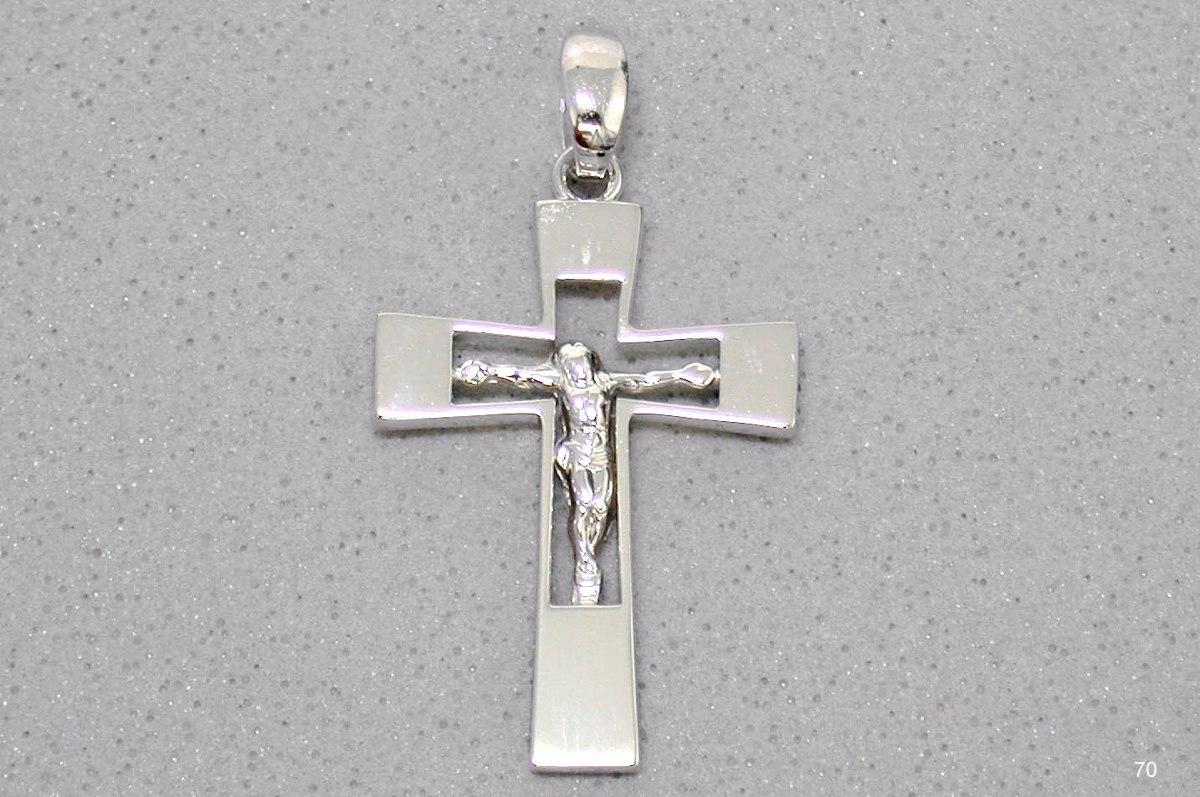 pingente crucifixo em ouro branco 18k - religioso cruz. Carregando zoom. eeb75503e3