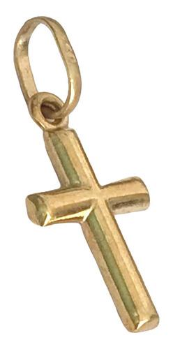 pingente crucifixo frente verso cruz em ouro 18k