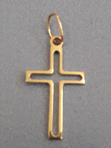 034967ff87ce0 Pingente Crucifixo Vazado Em Ouro 18k 750 + Brinde !!! - R  68
