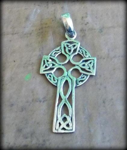 pingente cruz celta - stunning celtic cross - prata - opç 01