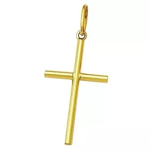 pingente cruz crucifixo em ouro 18k