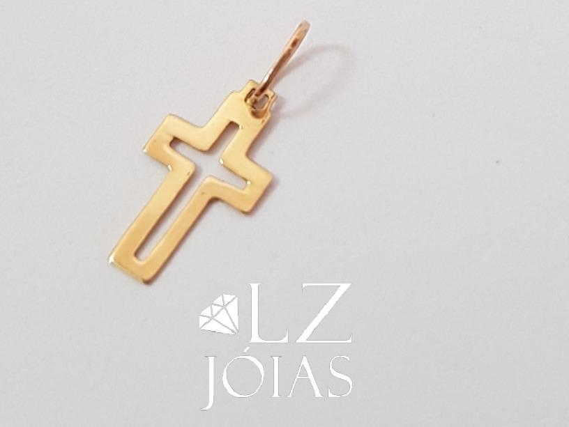 a936a3cac8df3 pingente cruz crucifixo pequeno vazado feminino ouro 18k 750. Carregando  zoom.