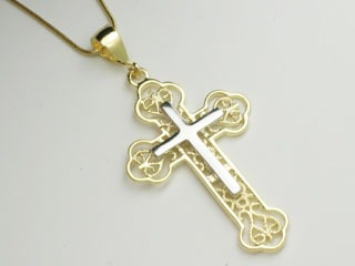 pingente cruz crucifixo vazados composto rommanel 540815