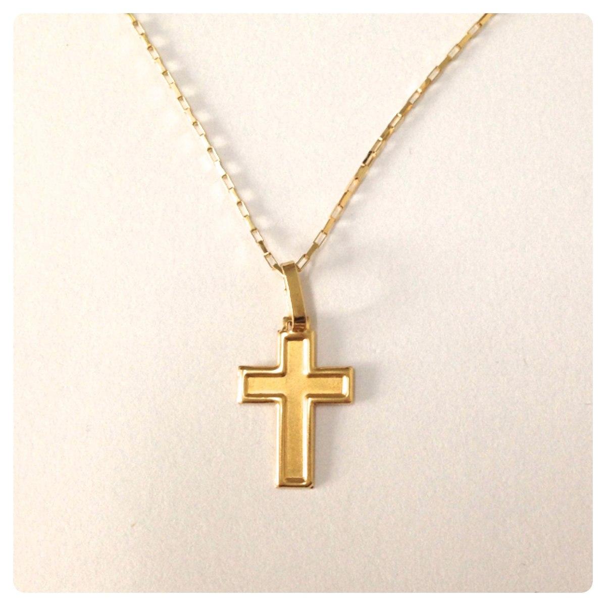 5307b72762657 pingente cruz de 2.3 cm de ouro 18k - 750. Carregando zoom.