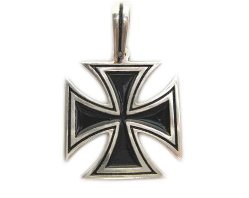 pingente cruz de ferro em prata - somente o pingente