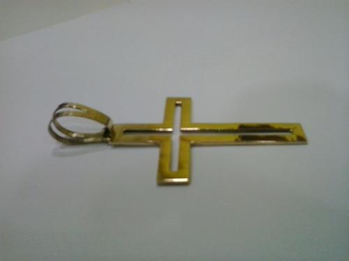 pingente cruz em ouro 18 k 750,