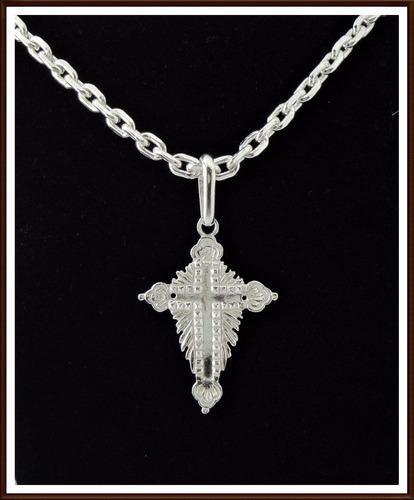 pingente cruz em prata 950.