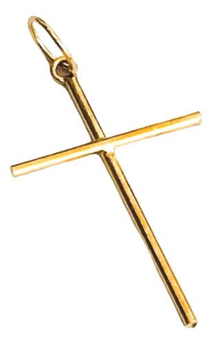 pingente cruz lisa m ouro 18k 21mmx13mm full