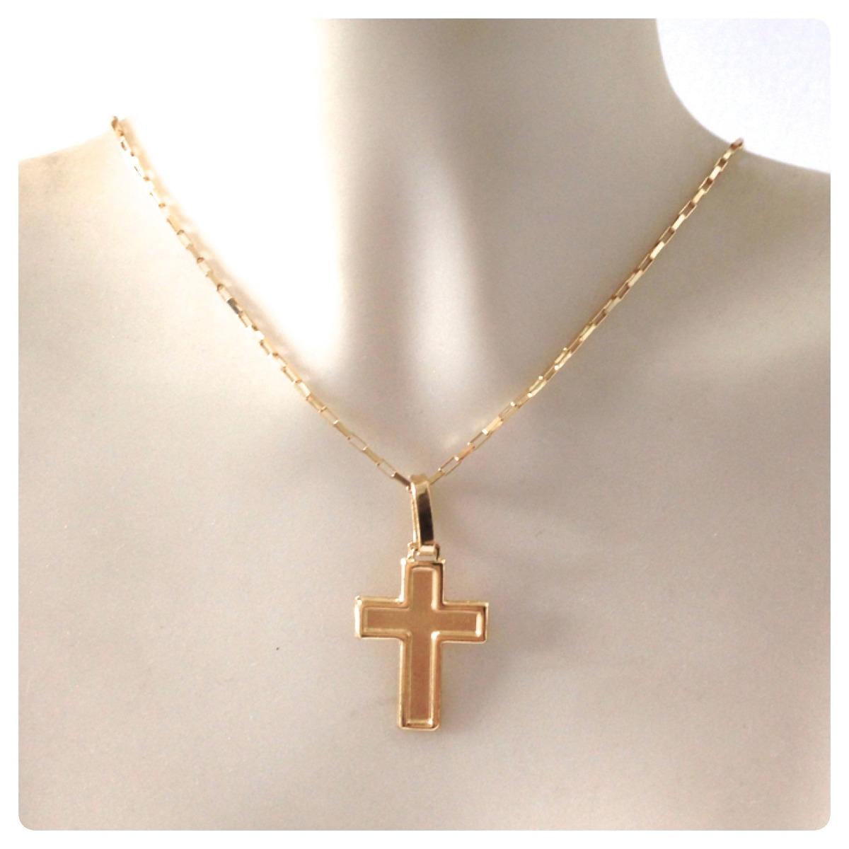 pingente cruz masculino em ouro amarelo 18k 750 maciço. Carregando zoom. d9573a13bf