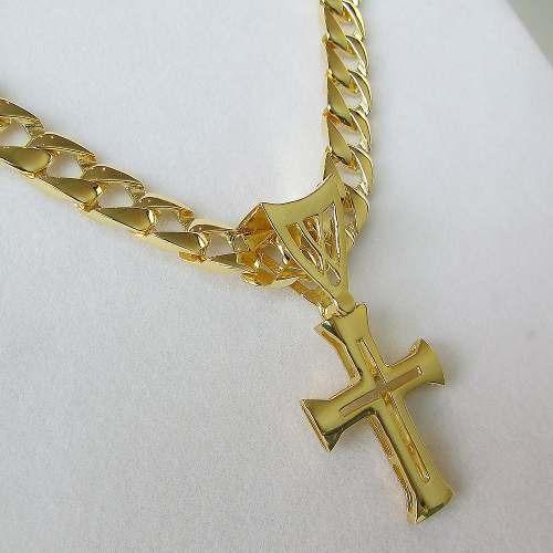 aeb4140291df6 Pingente Cruz Peq. Centurião Romano Banho Ouro 18k - R  115,90 em ...