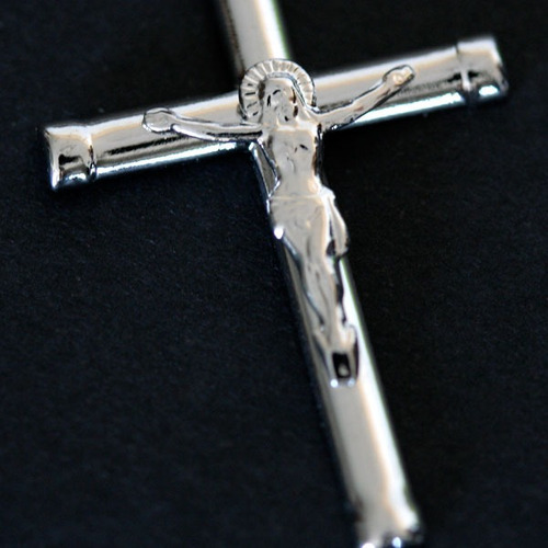 pingente de aço crucifixo cristo