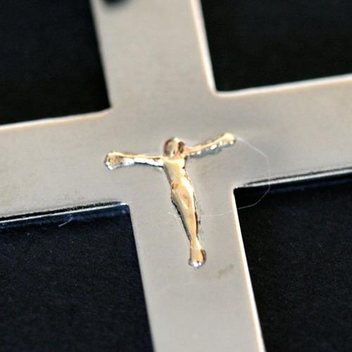 pingente de aço cruz pequena