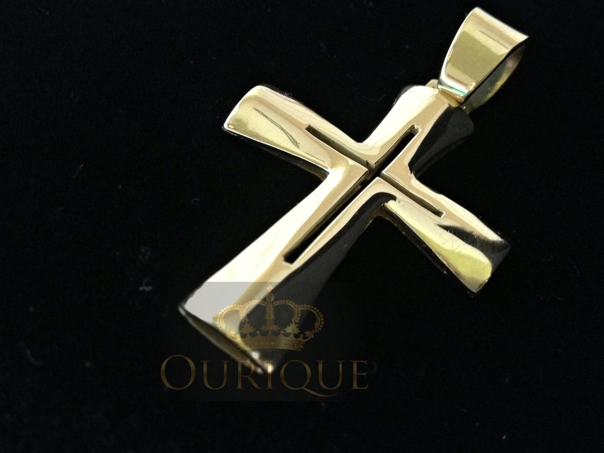 1afe075010107 pingente de cruz em ouro 18k modelo centurião romano 10 grs. Carregando  zoom.
