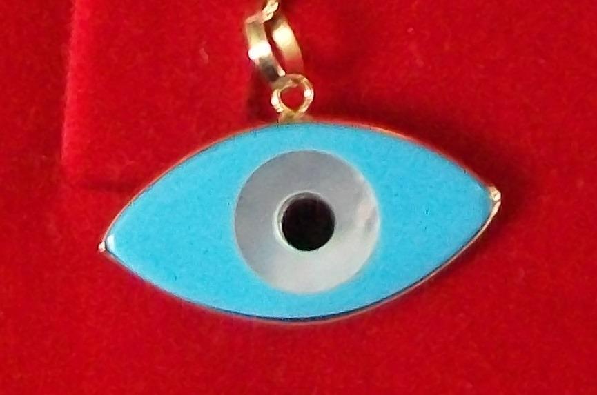 ffd1a66edfd10 pingente de olho grego turquesa em madrepérola, ouro 18k. Carregando zoom.