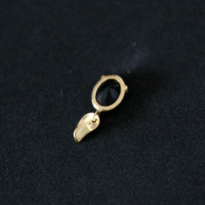 pingente de ouro 18k 0750 classic com pedra natural