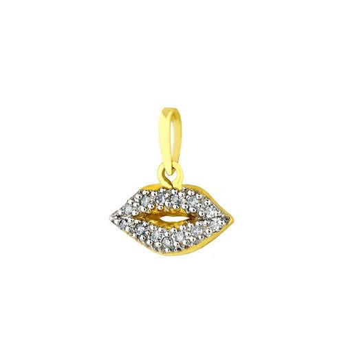 pingente de ouro 18k boca cravejada com diamantes pi16078