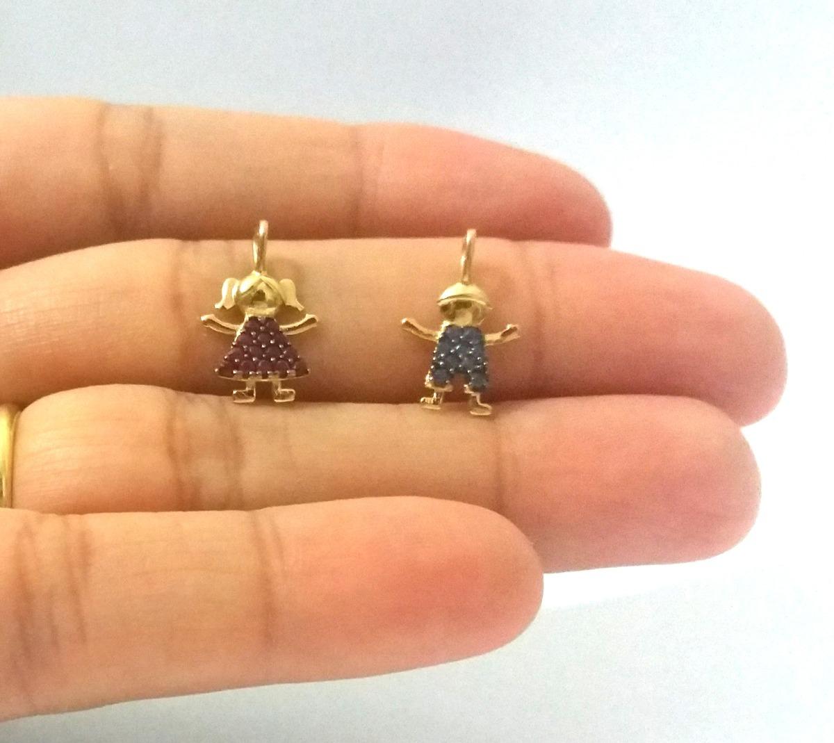 4661b3eea5721 pingente de ouro 18k menino pedras zirconia azul viagold u32. Carregando  zoom.