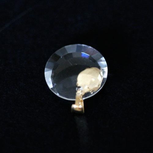 pingente de ouro 18k sagrado coração de jesus com pedra str