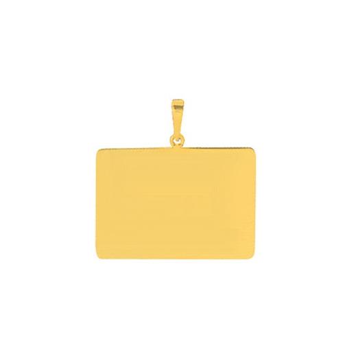 pingente de ouro com foto gravada / fotogravação  10.5 mm x