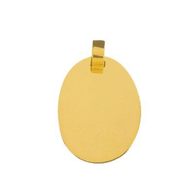 pingente de ouro com foto gravada / fotogravação 23.4mm x 1