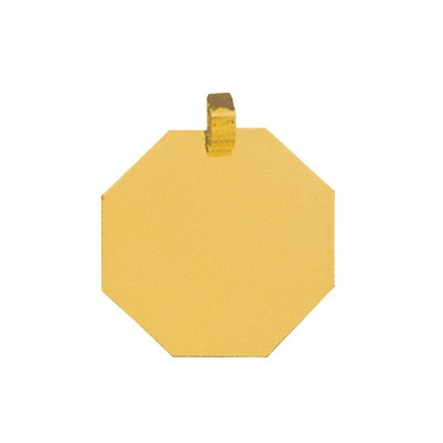 pingente de ouro com foto gravada / fotogravação 24.3mm x 2