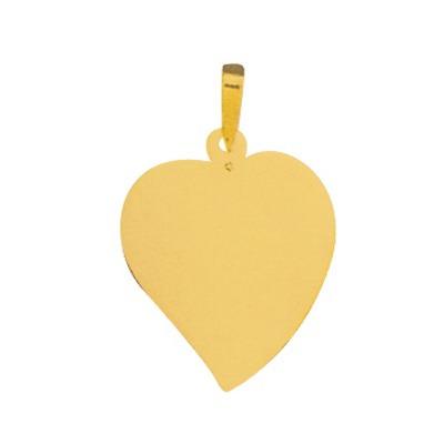 pingente de ouro com foto gravada / fotogravação colorida 2