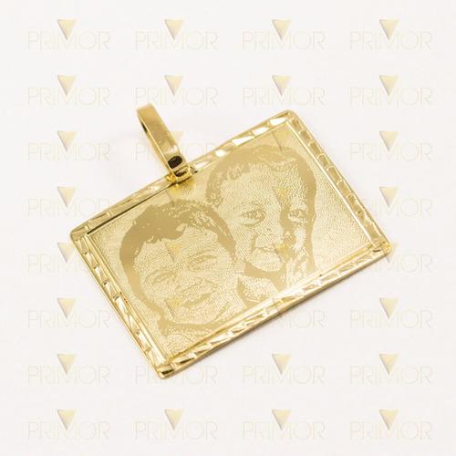 pingente de ouro com gravação de sua foto predileta pg049