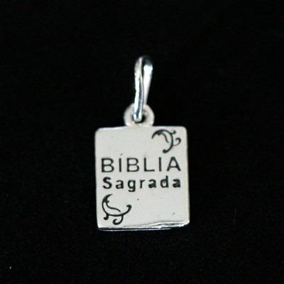 pingente de prata 925 bíblia