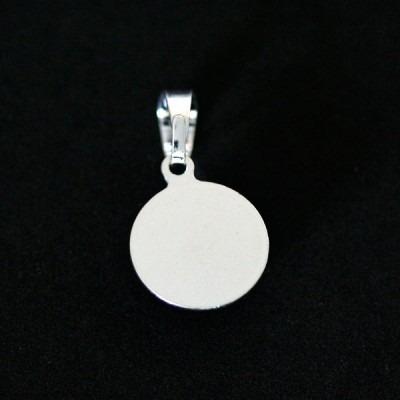 pingente de prata 925 cabochao liso preto