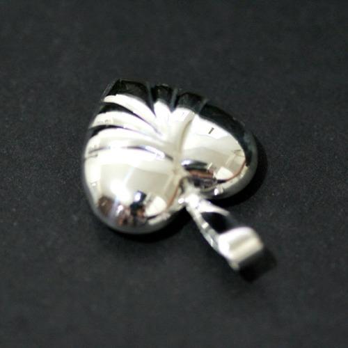 pingente de prata 925 coração com detalhes