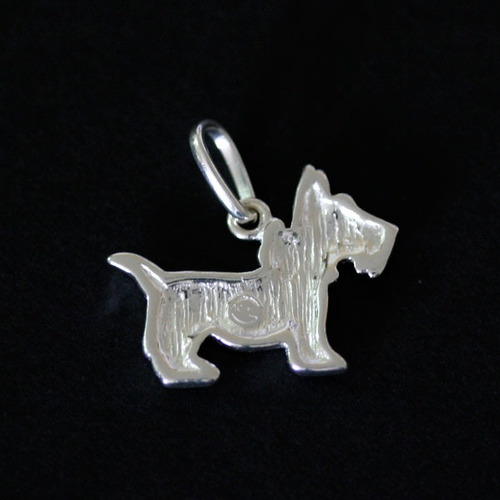 pingente de prata 925 cãozinho com strass