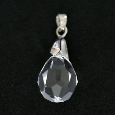 pingente de prata 925 cristal swaroviski