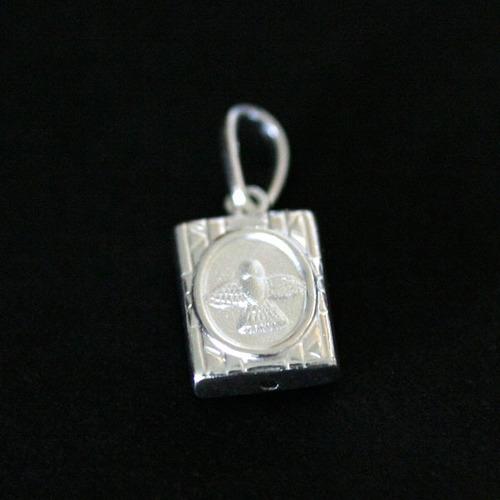 pingente de prata 925 escapulário anjo da guarda / espirito