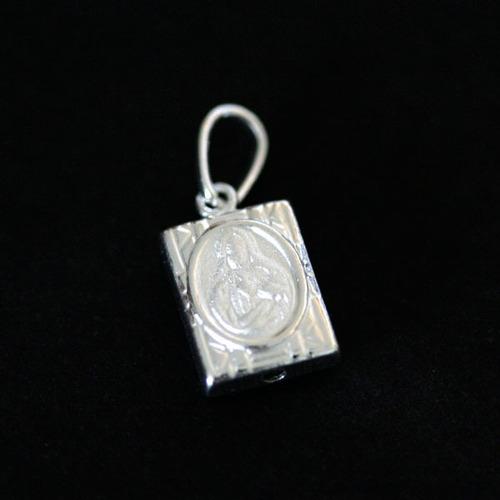 pingente de prata 925 escapulário nossa senhora do carmo /