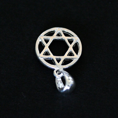 pingente de prata 925 estrela de davi