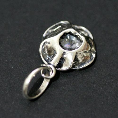 pingente de prata 925 flor