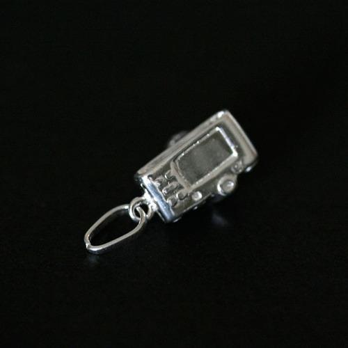 pingente de prata 925 máquina fotográfica