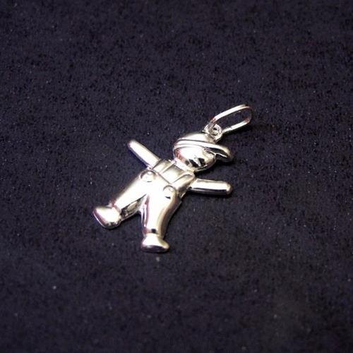 pingente de prata 925 menino